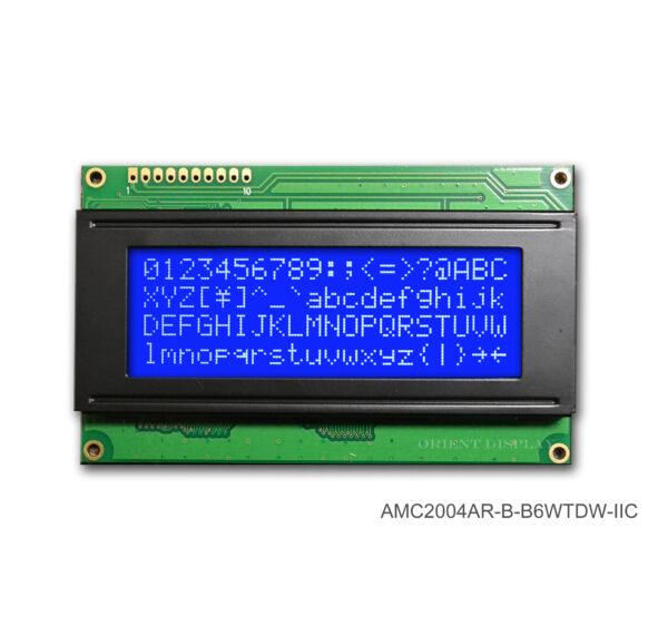 AMC2004AR-B-B6WTDW-I2C (20x4 Character LCD Module - I2C Interface)