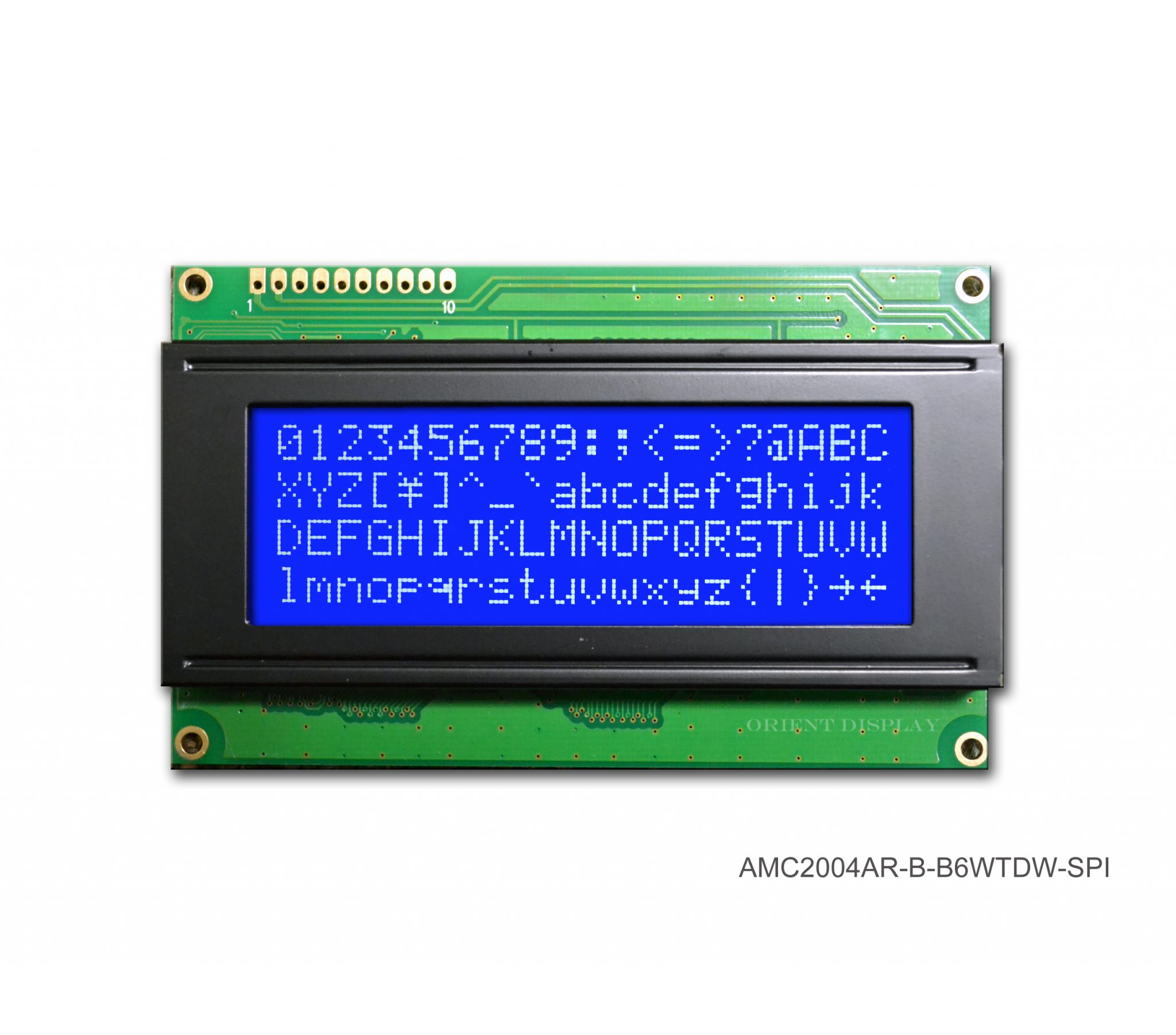AMC2004AR-B-B6WTDW-SPI (20x4 Character LCD Module - SPI Interface)