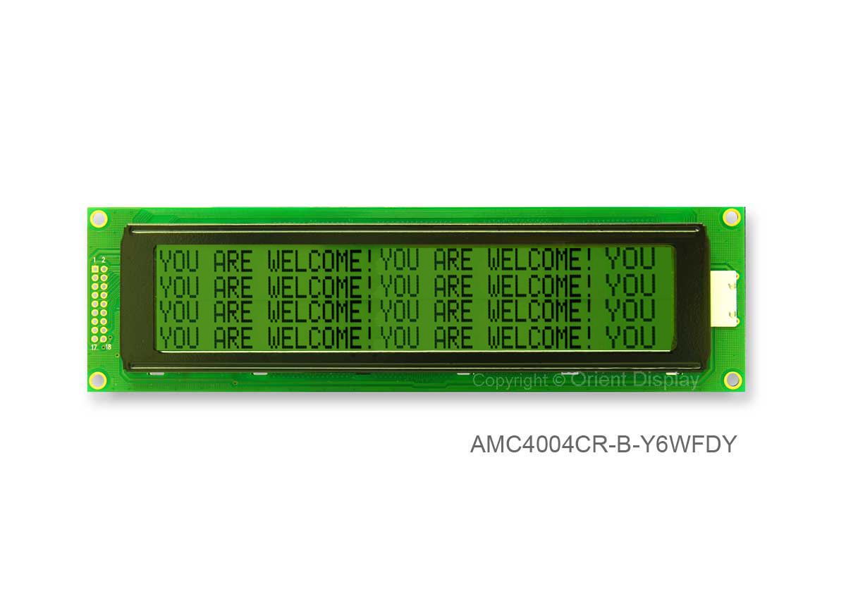 AMC4004CR-B-Y6WFDY (40x4 Character LCD Module)
