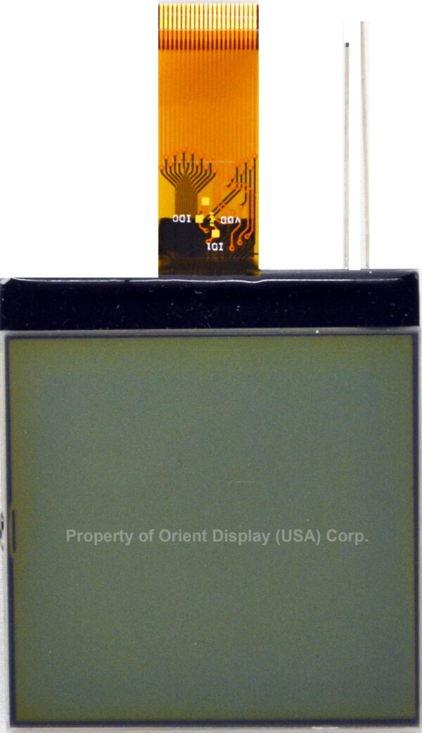 """AMG128128PR-G-W12WFDW (2.1"""" 128x128 COG LCD Module)"""