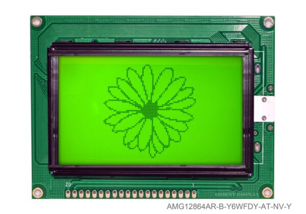 "AMG12864AR-B-Y6WFDY-AT-NV-Y (2.9"" 128x64 Graphic LCD Module)"