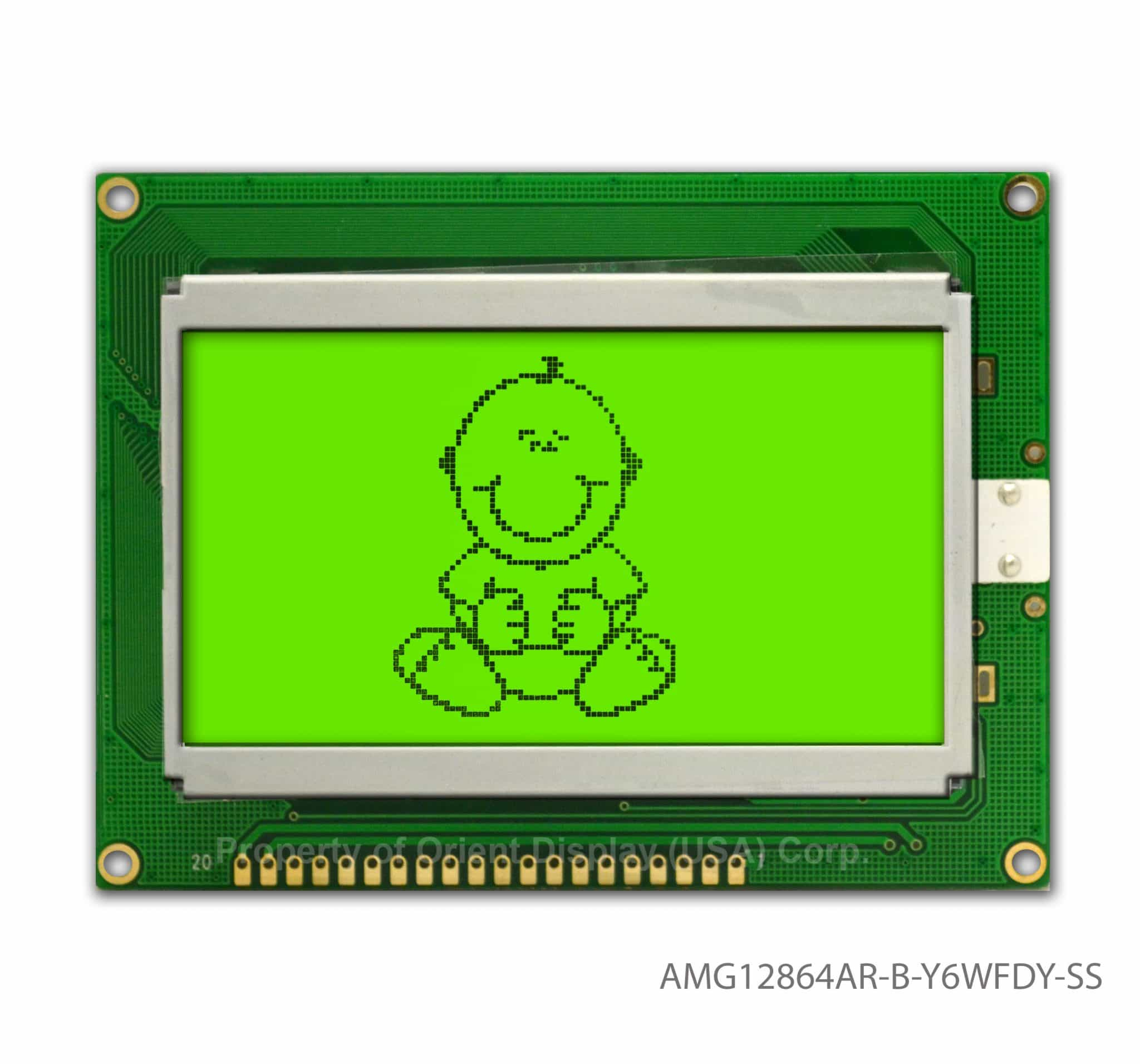 "AMG12864AR-B-Y6WFDY-SS (2.9"" 128x64 Graphic LCD Module) NO DC-DC"
