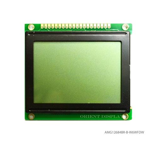 """AMG12864BR-B-W6WFDW-NV (2.7"""" 128x64 COB LCD Module)"""