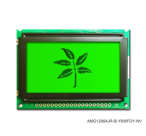 "AMG12864JR-B-Y6WFDY-NV (2.4"" 128x64 Graphic LCD Module)"