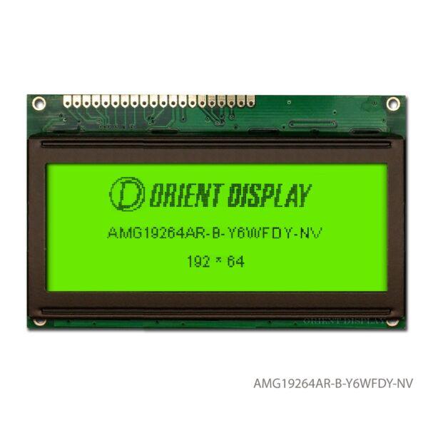 """AMG19264AR-B-Y6WFDY-NV (3.3"""" 192x64 Graphic LCD Module)"""