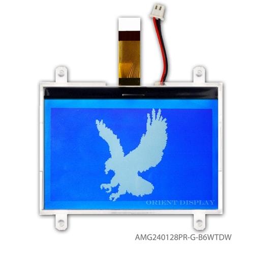"AMG240128PR-G-B6WTDW (4.0"" 240x128 Graphic COG LCD Module)"
