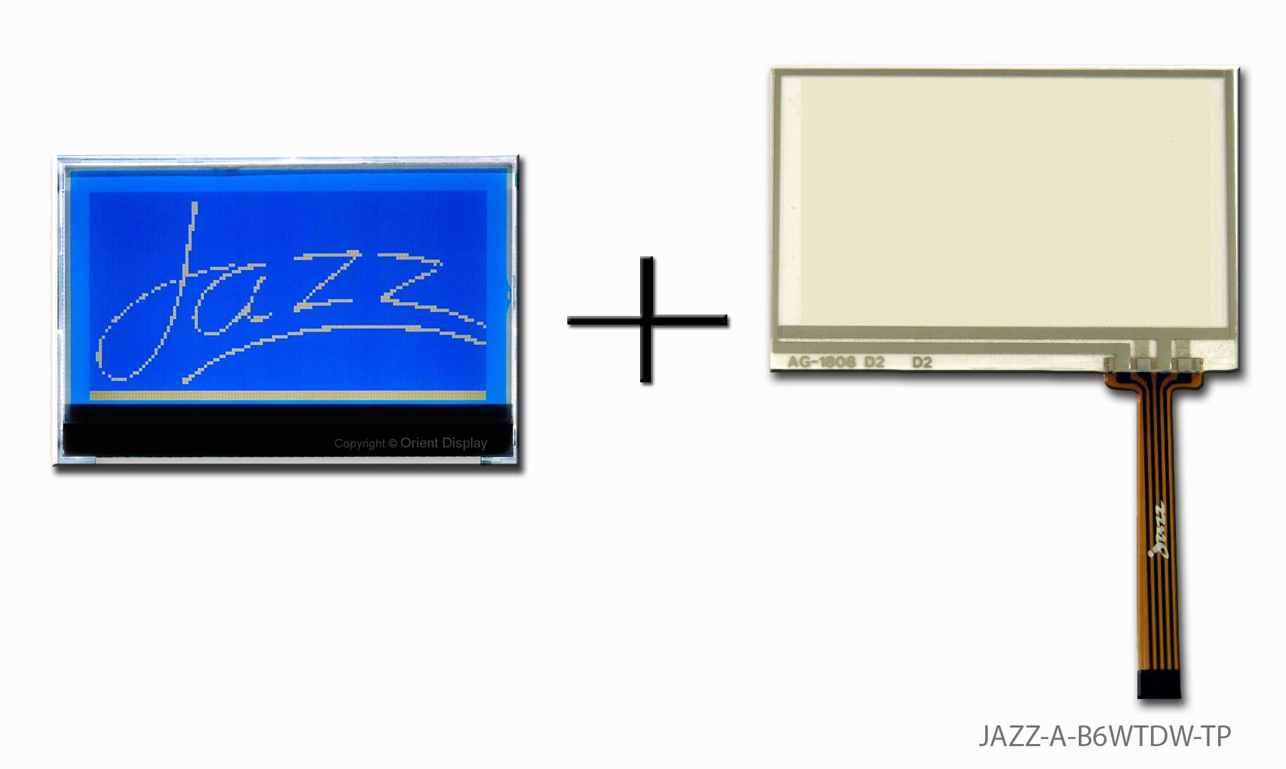 JAZZ-A-B6WTDW-TP (LCD+BL+RTP, Graphic COG 128x64)