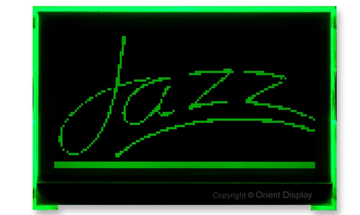 JAZZ-A-T6WFDG Module (LCD+BL, Graphic COG 128x64)