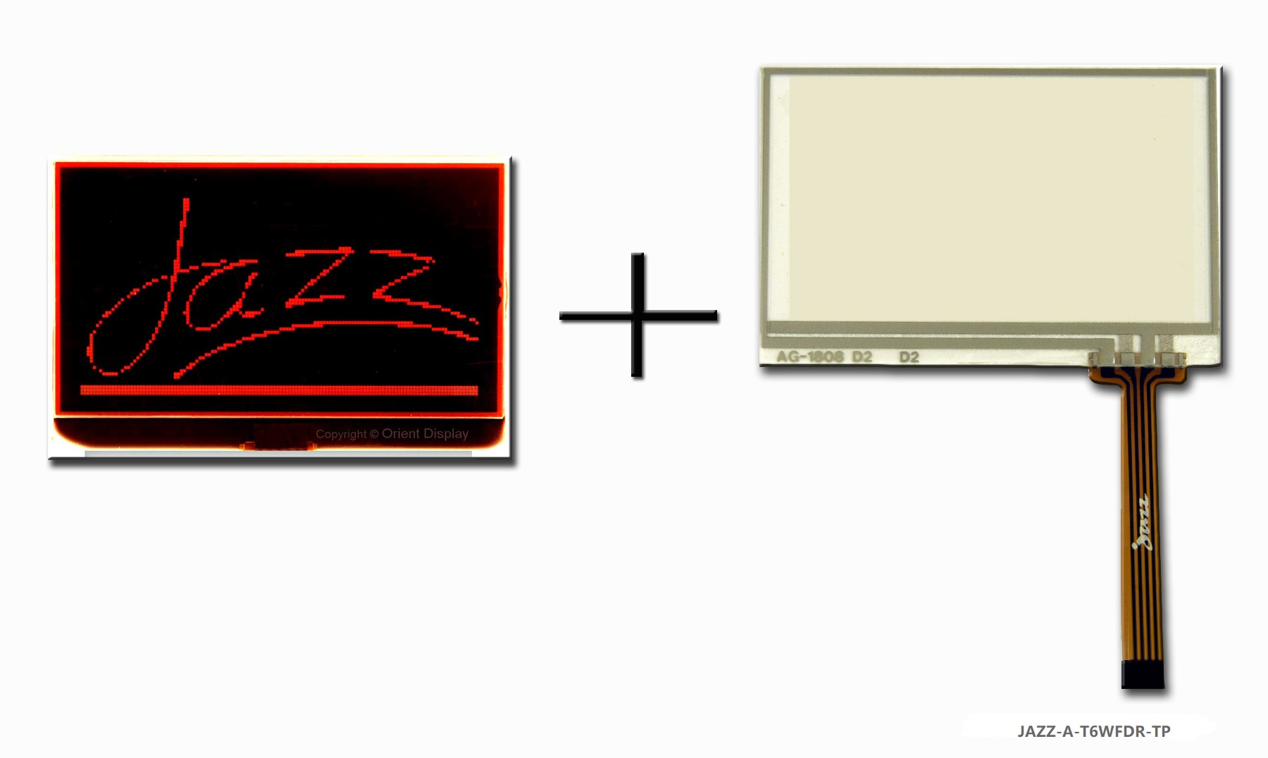 JAZZ A-T6WFDR-TP (LCD+BL+RTP Graphic COG 128x64)