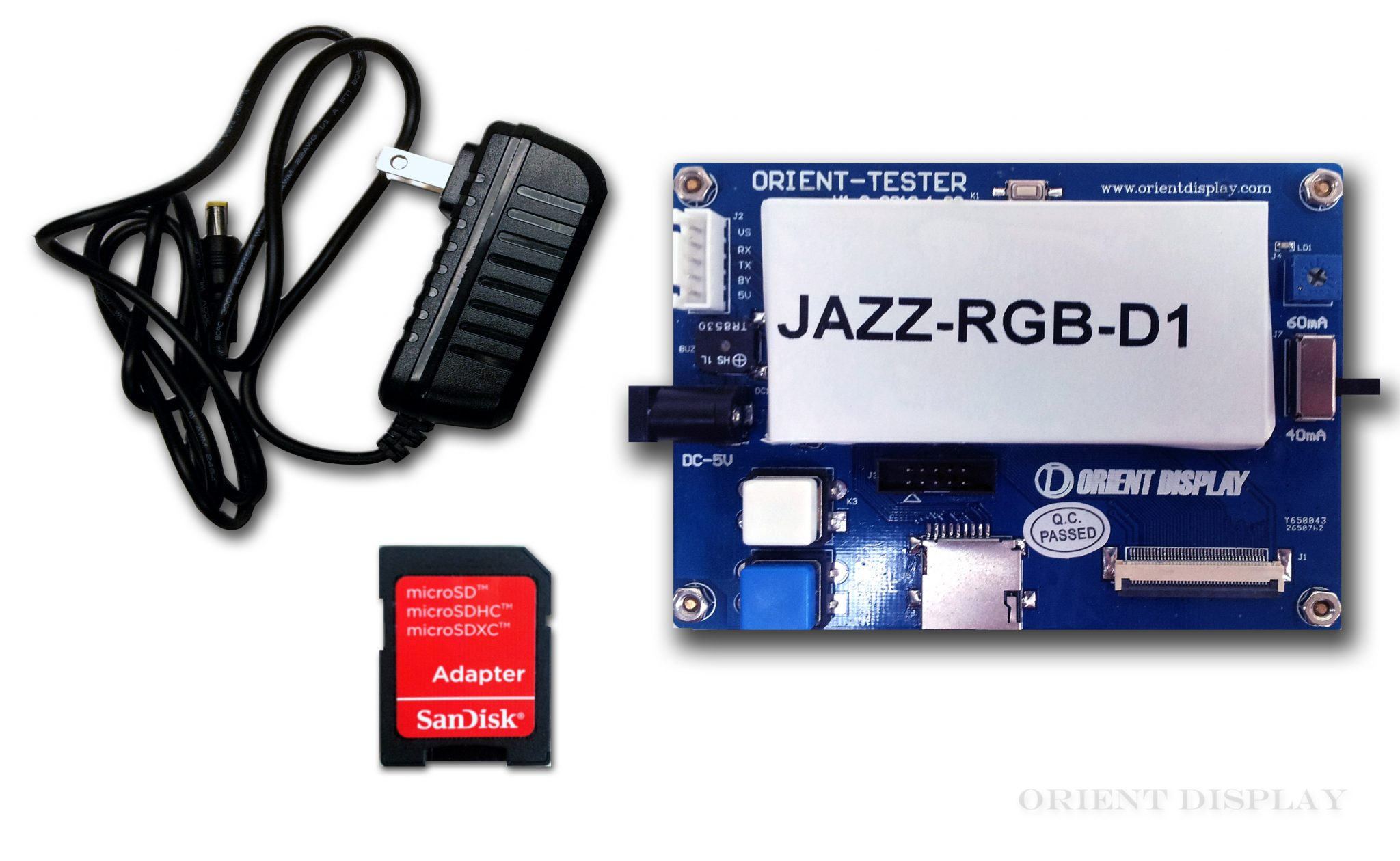 "JAZZ-RGB-D1 (Demo Board for 3.5"", 4.3"", 5.0"", and 7.0"" TFTs)"
