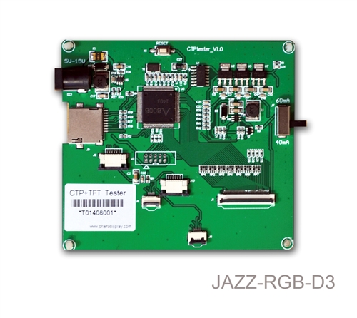 "JAZZ-RGB-D3 (Demo Board for 3.5"", 4.3"", 5.0"", and 7.0"" TFTs+CTP Modules)"