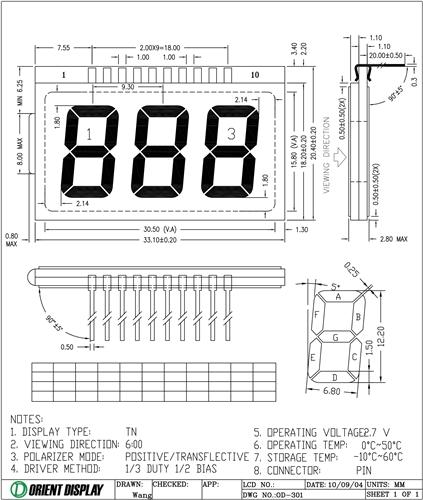 OD-301 (LCD Glass Panel)