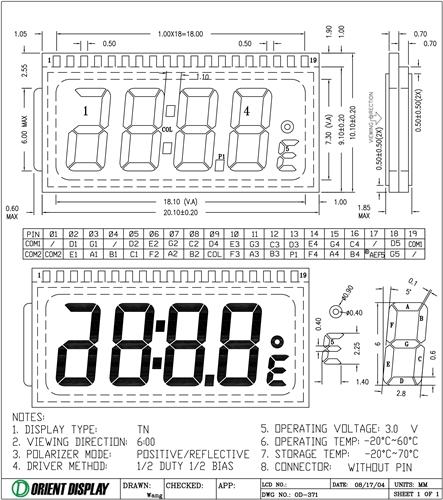OD-371 (LCD Glass Panel)