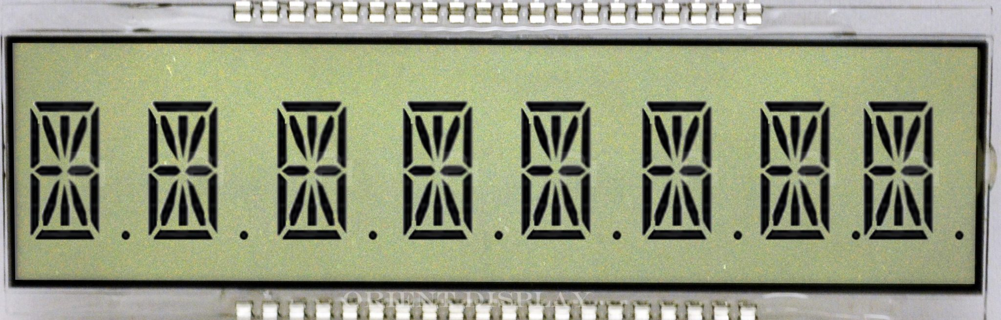OD-894A (8 Digit LCD Glass Panel)